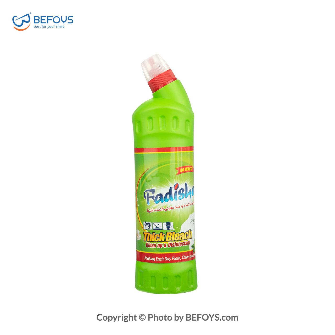 مایع سفید کننده و ضدعفونی کننده فدیشه مدل 750green lemon میلی لیتری (1)