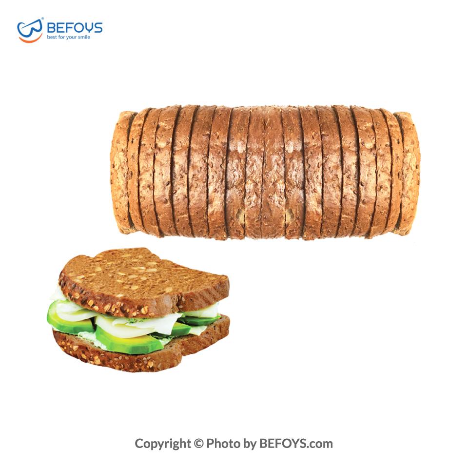نان تست کارتنی هفت غله سه نان 16 بسته ای 530 گرمی