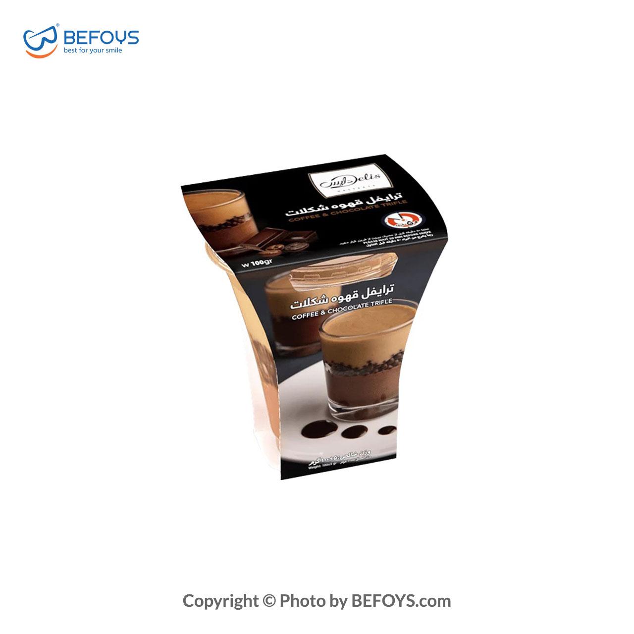 ترایفل قهوه_شکلات