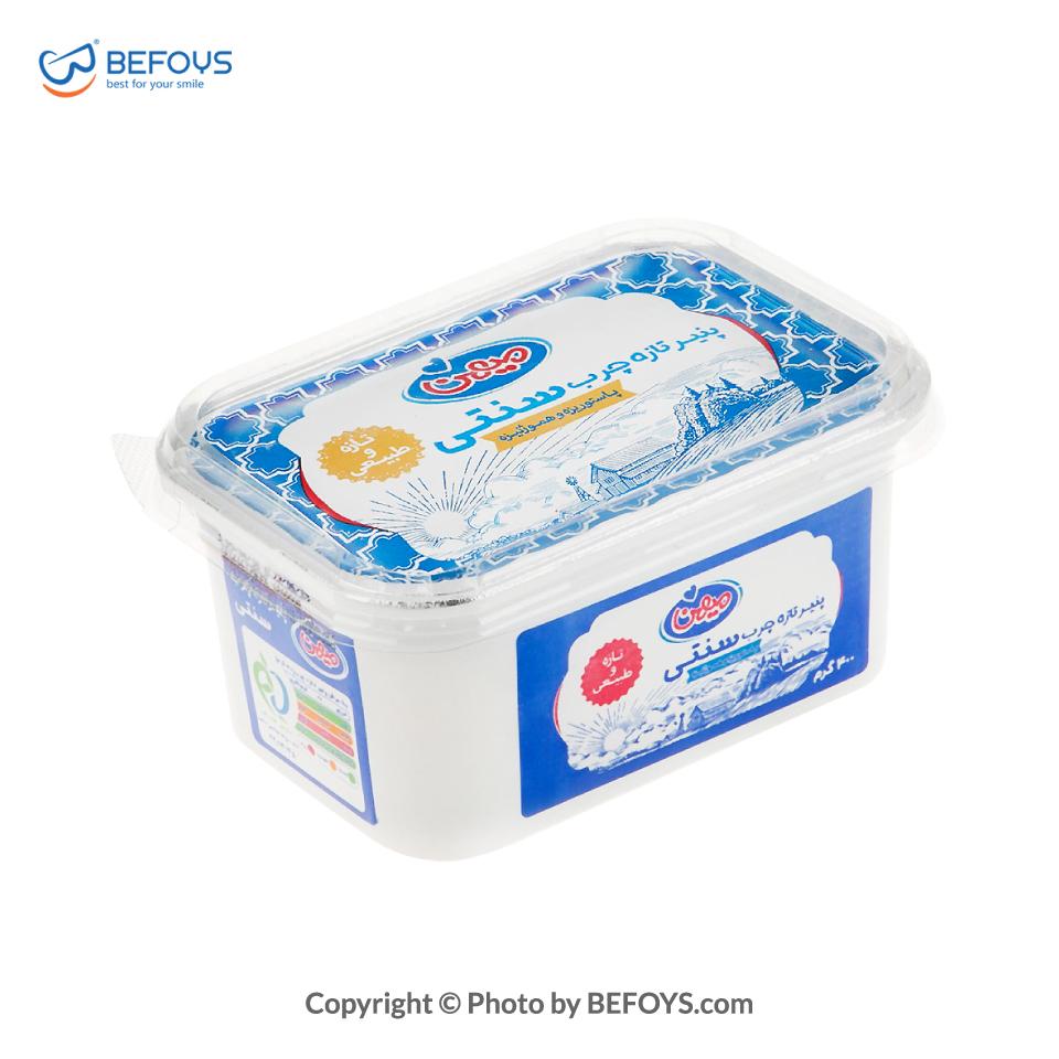 پنیر سفید کارتنی چرب سنتی میهن 24 بسته ای 400 گرمی