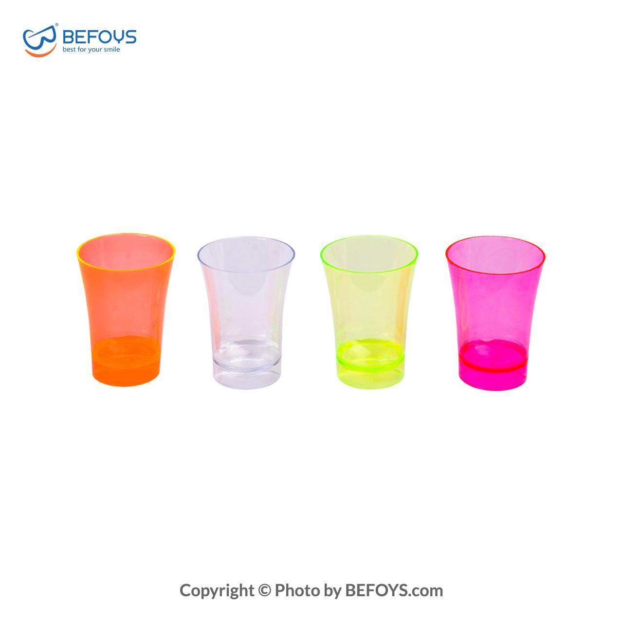 لیوان یکبار مصرف بسته ای نایس چهار رنگ کوشا 10 عددی